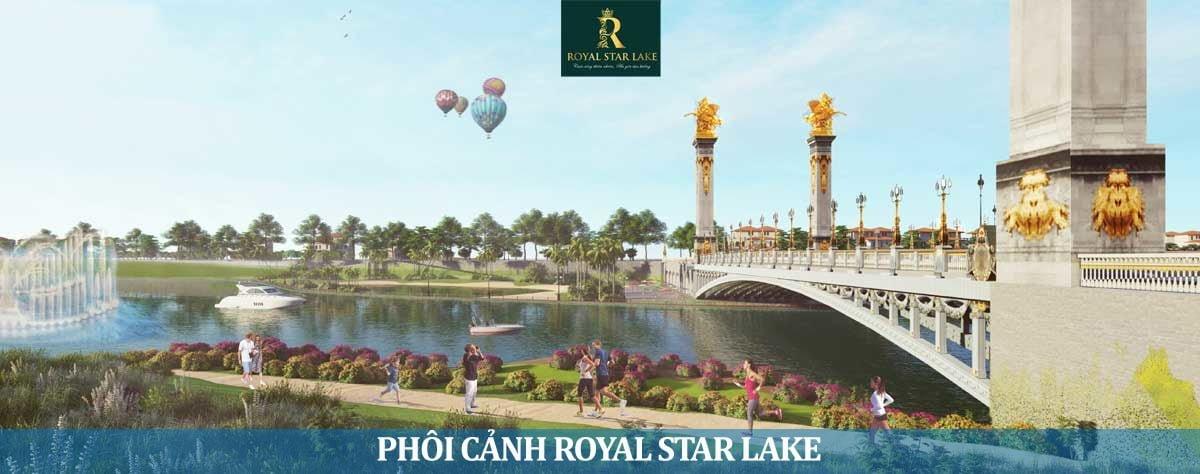 Phối cành Công viên ngay Cầu bắt qua Hồ Suối Cam tại Dự án Royal Star Lake Hồ Suối Cam Đồng Xoài Bình Phước