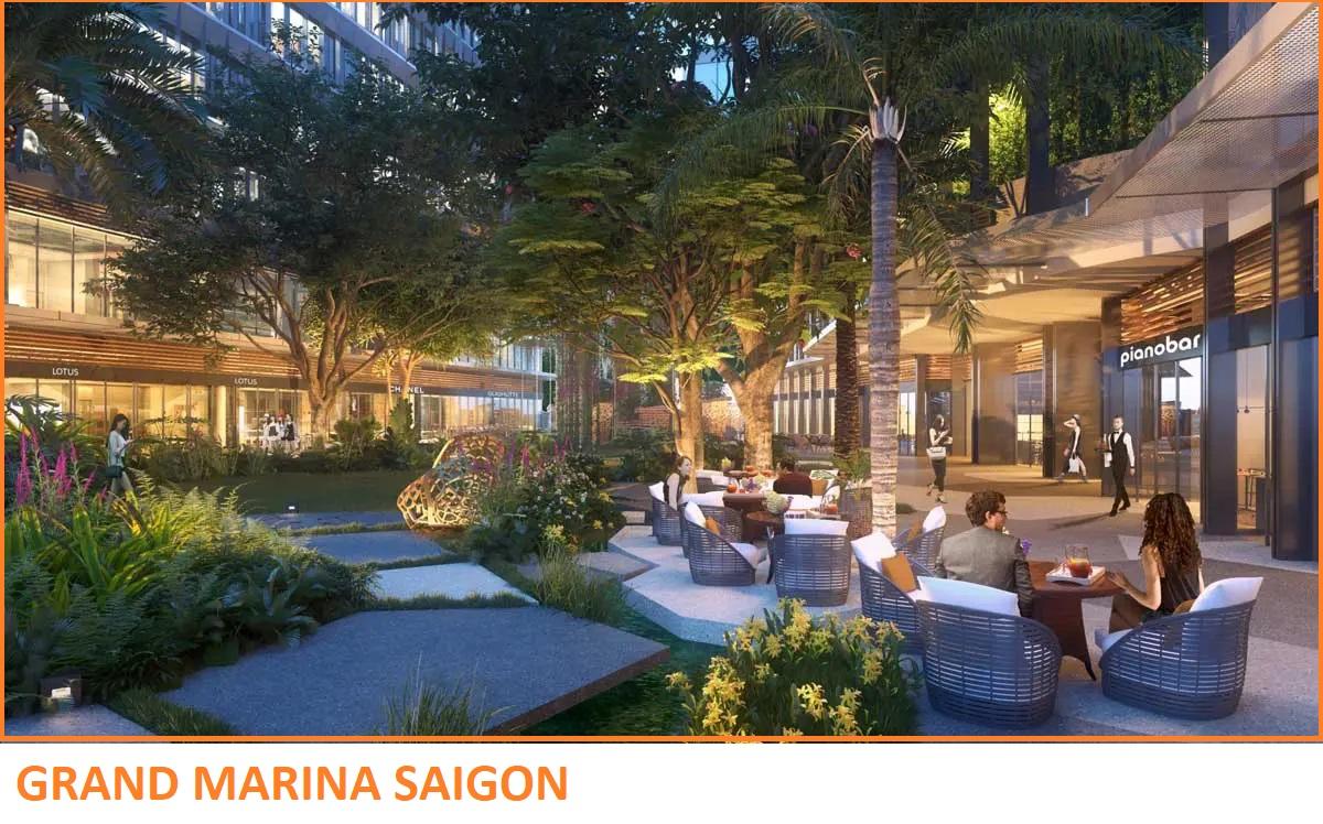 Khu nhà hàng & Cafe Grand Marina Saigon Quận 1