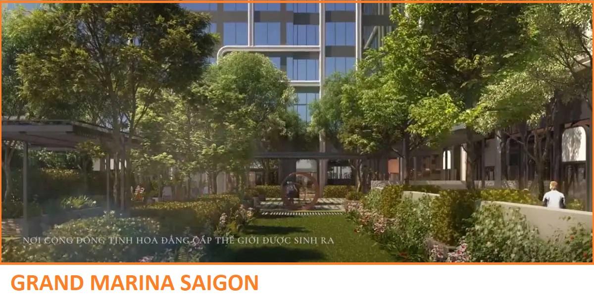 Tiện ích Công viên nội khu Dự án Căn hộ Grand Marina Saigon Quận 1